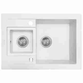 Кухонная мойка PERFELLI GRANZE PGG 506-67 WHITE