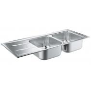 Кухонная мойка GROHE SINK K400 31587SD0 ДВОЙНАЯ