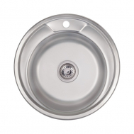 Кухонная мойка LIDZ 490-A (0,8ММ) SATIN (LIDZ4 ...