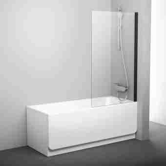 Штора на ванну RAVAK PVS1 - 80 TRANSPARENT ЧЕРНЫЙ ПРОФИЛЬ 79840300Z1