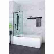 Штора на ванну ANDORA ANIMA BLACK 700*1500 CLEAR