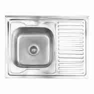 Кухонная мойка LIDZ 6080-L SATIN 0,8 ММ LIDZ60 ...