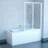 Штора на ванну RAVAK VS2 - 105 TRANSPARENT БЕЛ ...