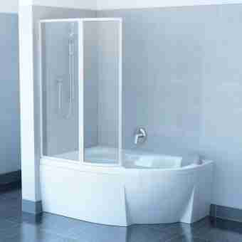 Штора на ванну RAVAK VSK2 ROSA - 150 L TRANSPARENT 76L80100Z1