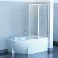 Штора на ванну RAVAK VSK2 ROSA - 160 R RAIN 76P9010041