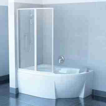Штора на ванну RAVAK VSK2 ROSA - 160 L TRANSPARENT 76L90100Z1