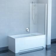 Штора на ванну RAVAK PVS1 - 80 TRANSPARENT БЕЛ ...
