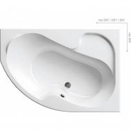 Ванна RAVAK ROSA I 140 X 105 ПРАВАЯ CV01000000