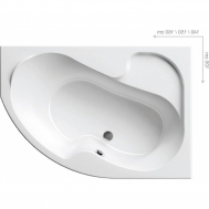 Ванна RAVAK ROSA I 150 X 105 ПРАВАЯ CJ01000000